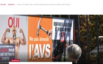 """""""125 ans, et après? Des comités citoyens pour innover en démocratie directe"""""""