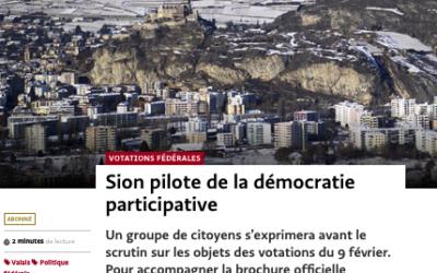 """""""Sion pilote de la démocratie participative"""""""