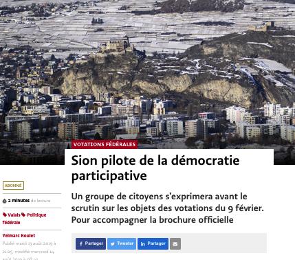 13 août 2019 – Lancement demoscan Sion 2019