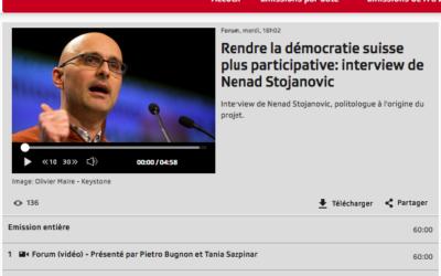 """""""Rendre la démocratie suisse plus participative: interview de Nenad Stojanovic"""""""