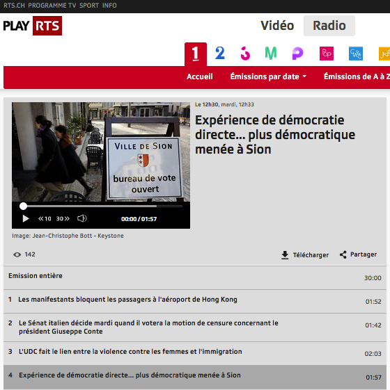 """""""Expérience de démocratie directe… plus démocratique menée à Sion"""""""