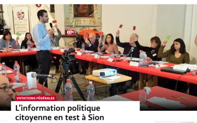 L'information politique citoyenne en test à Sion